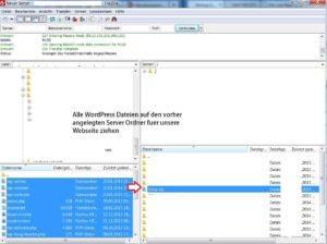 WordPress Dateien auf den Server ablegen