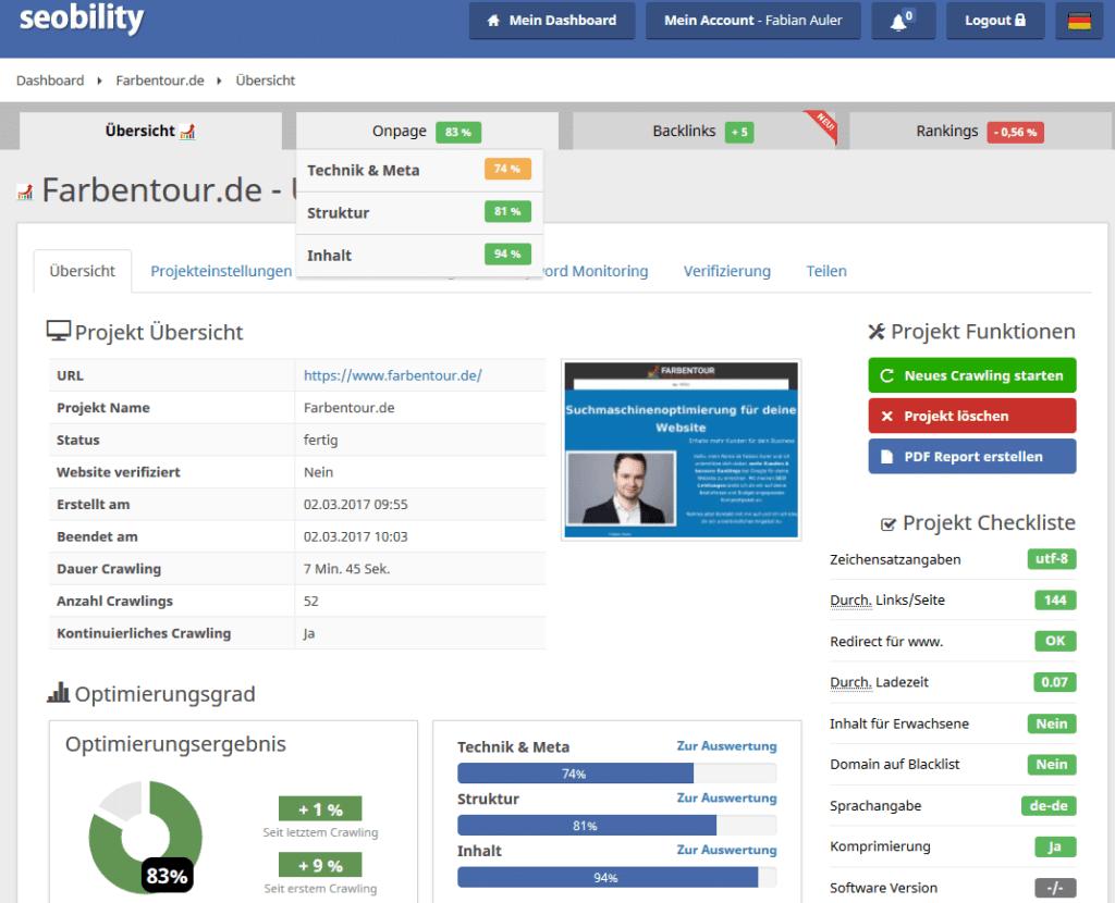 Seobility.com Backend