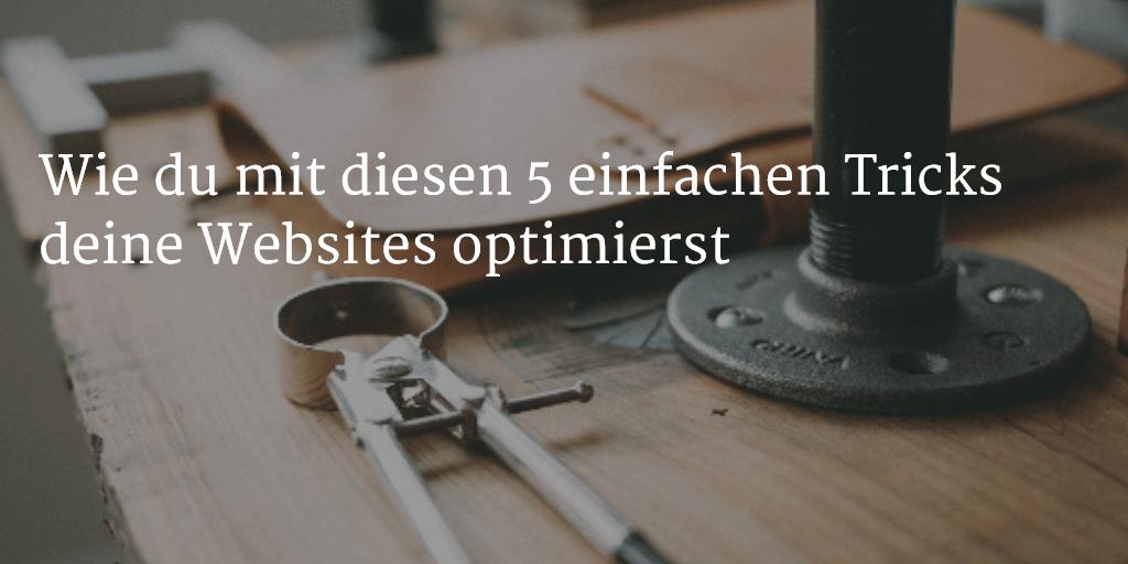 OnPage SEO Wie du mit diesen 5 einfachen Tricks deine Websites optimierst