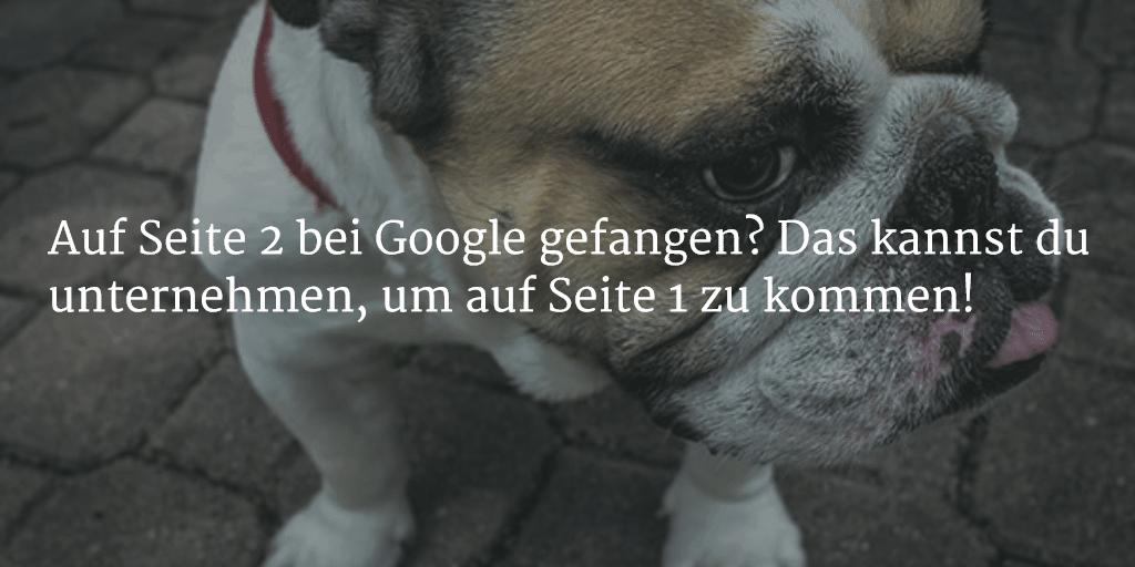 Nach vorne kommen bei Google