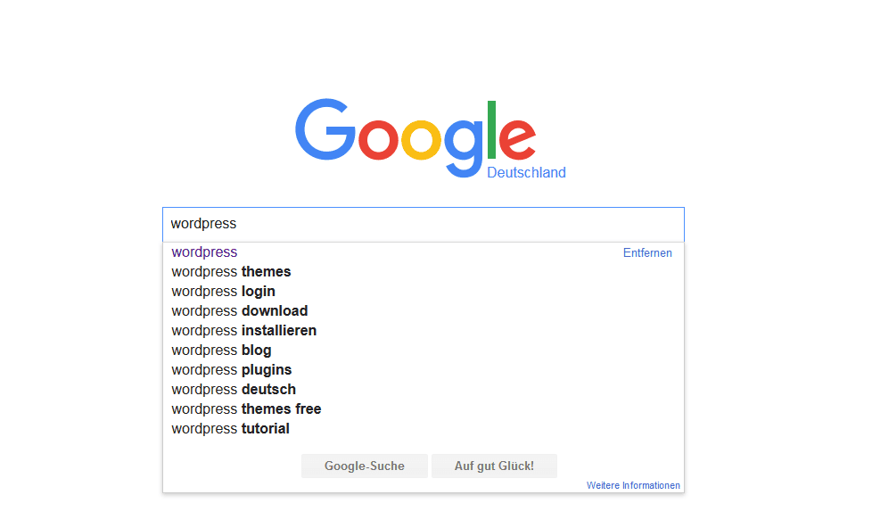 auto suggest google themen