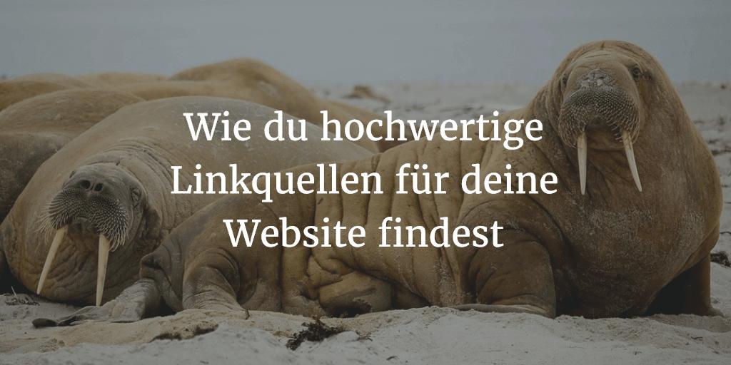 Wie du hochwertige Linkquellen für deine Website findest