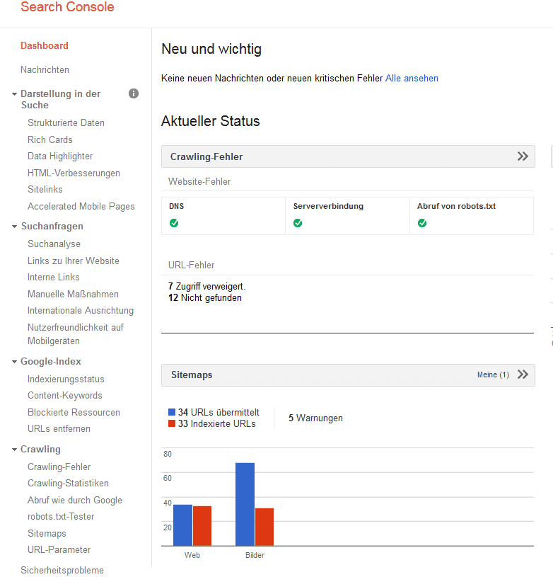 OnPage-Analyse mit der Search Console