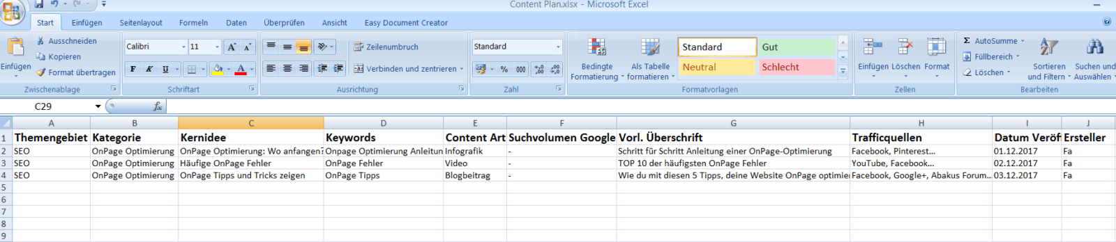 Content Plan Excel - Was ist Content Marketing?
