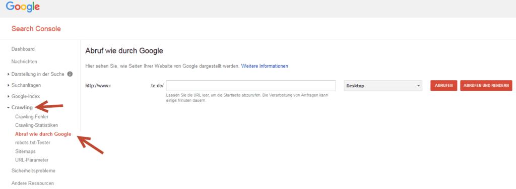 Abruf wie durch Google 1024x377 - Eine Homepage bei Suchmaschinen eintragen