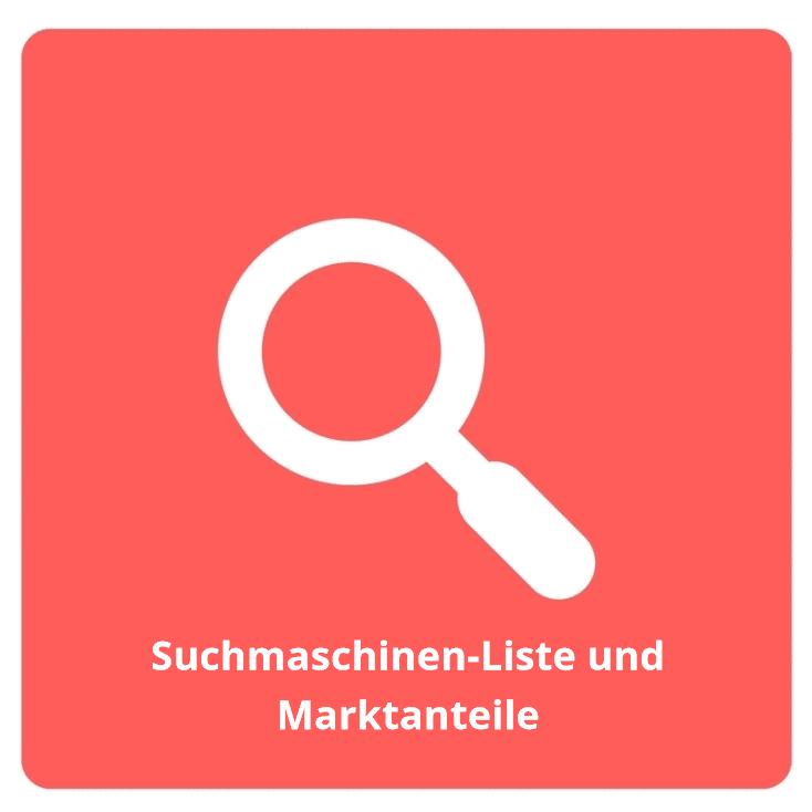 Suchmaschinen Liste und Marktanteile - Suchmaschinen: Liste und Marktanteile
