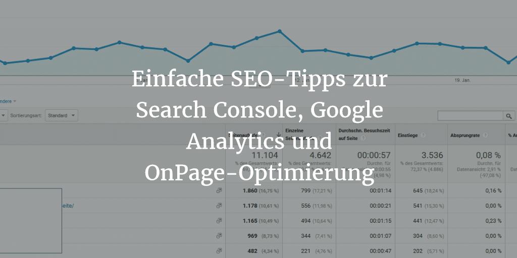 search console und google analytics tipps 1024x512 - Einfache SEO-Tipps zur Search Console und Google Analytics