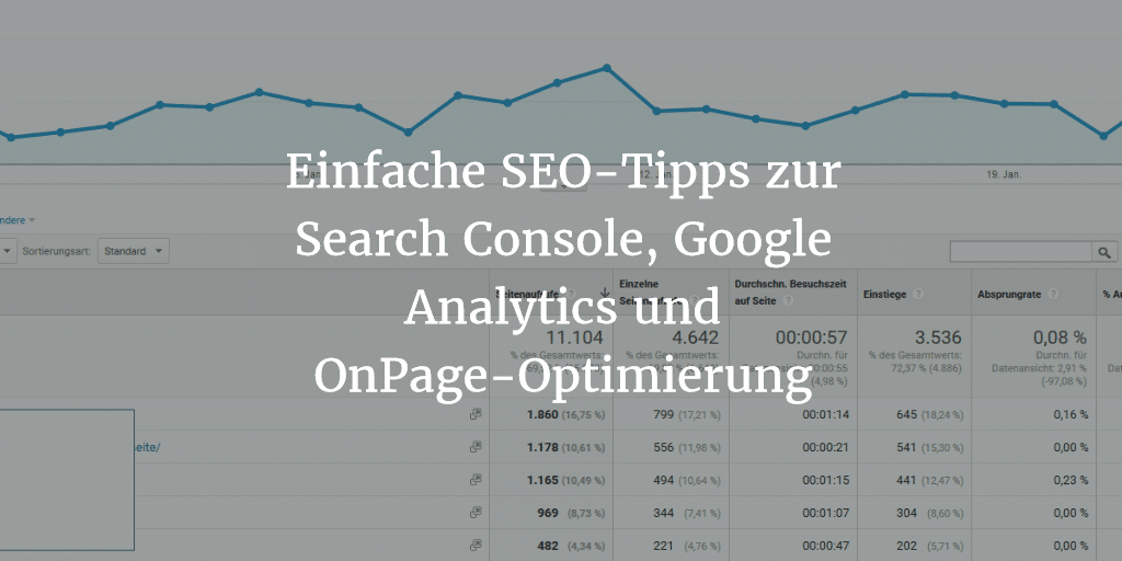 search console + google analytics