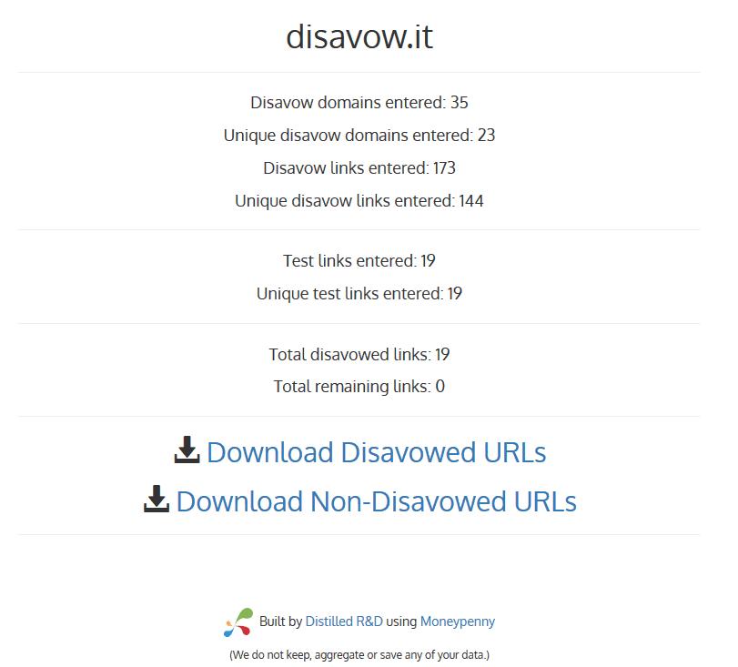 disavowit - 111 kostenlose SEO-Tools in der Übersicht