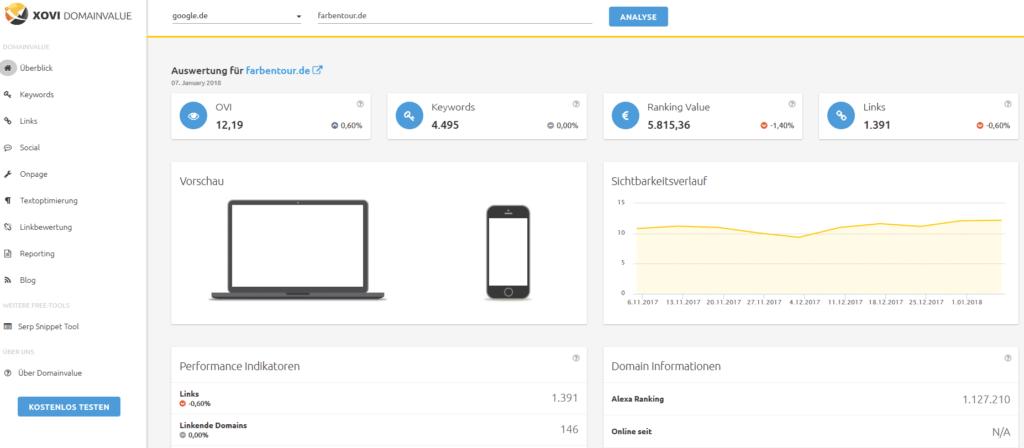 domainvalue 1024x448 - 111 kostenlose SEO-Tools in der Übersicht