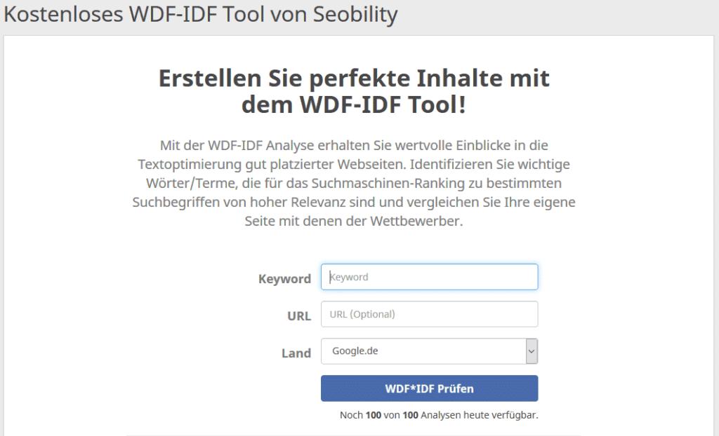 wdf IDF seobility. 1024x622 - 111 kostenlose SEO-Tools in der Übersicht