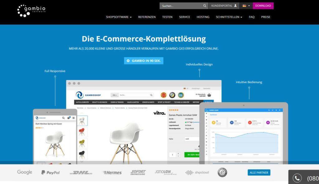 gambio 1024x591 - 15 Open Source Shopsysteme im Überblick - Finde die richtige E-Commerce-Lösung für dein Business