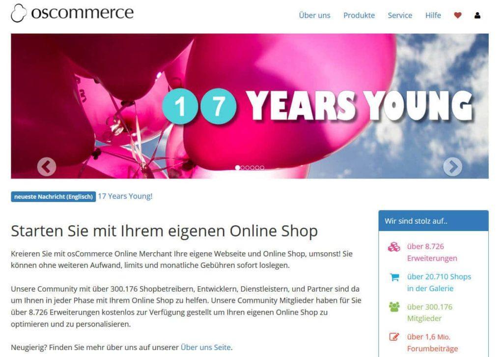 oscommerce 1024x726 - 15 Open Source Shopsysteme im Überblick - Finde die richtige E-Commerce-Lösung für dein Business