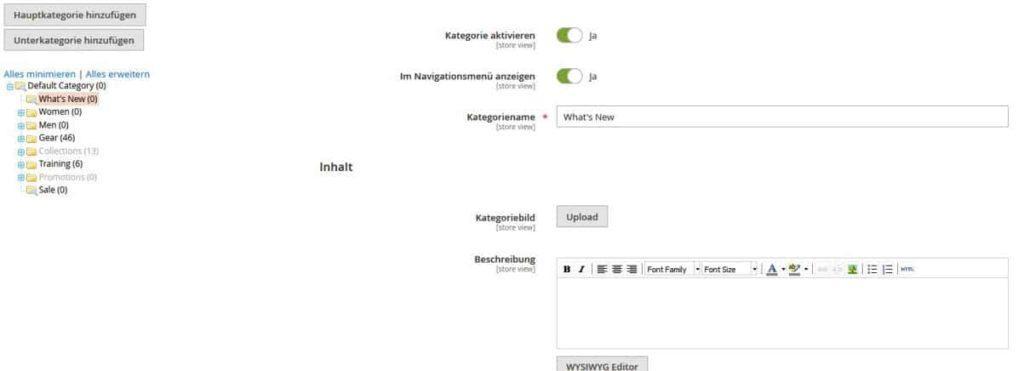 editor magento 1024x371 - Magento SEO: So machst du deinen Magento Shop fit für die Suchmaschinen