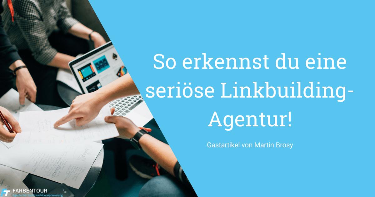 Beitrag Martin - So erkennst du eine seriöse Linkbuilding-Agentur