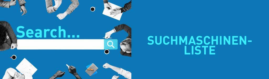 Suchmaschinen im Internet (Liste)