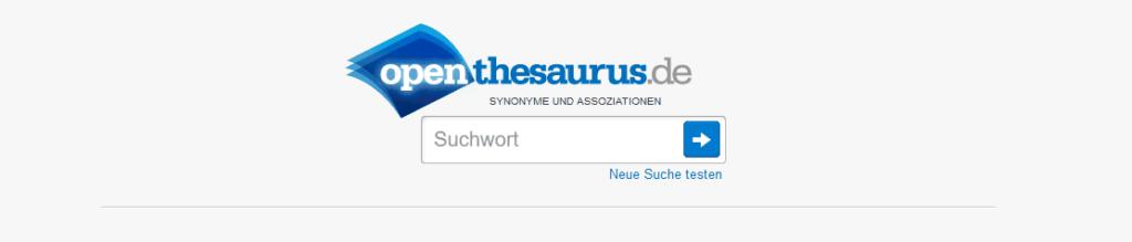 OpenThesaurus Synonyme