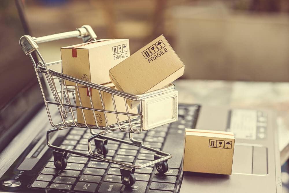 Onlineshop SEO Bild mit Einkaufswagen
