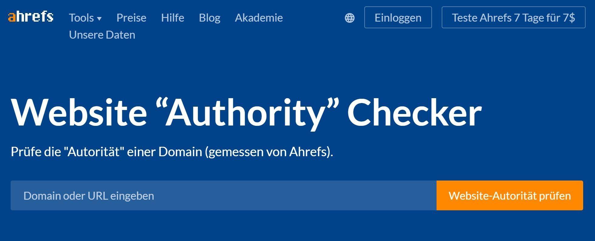 Website Authority Checker zur Konkurrenzanalyse